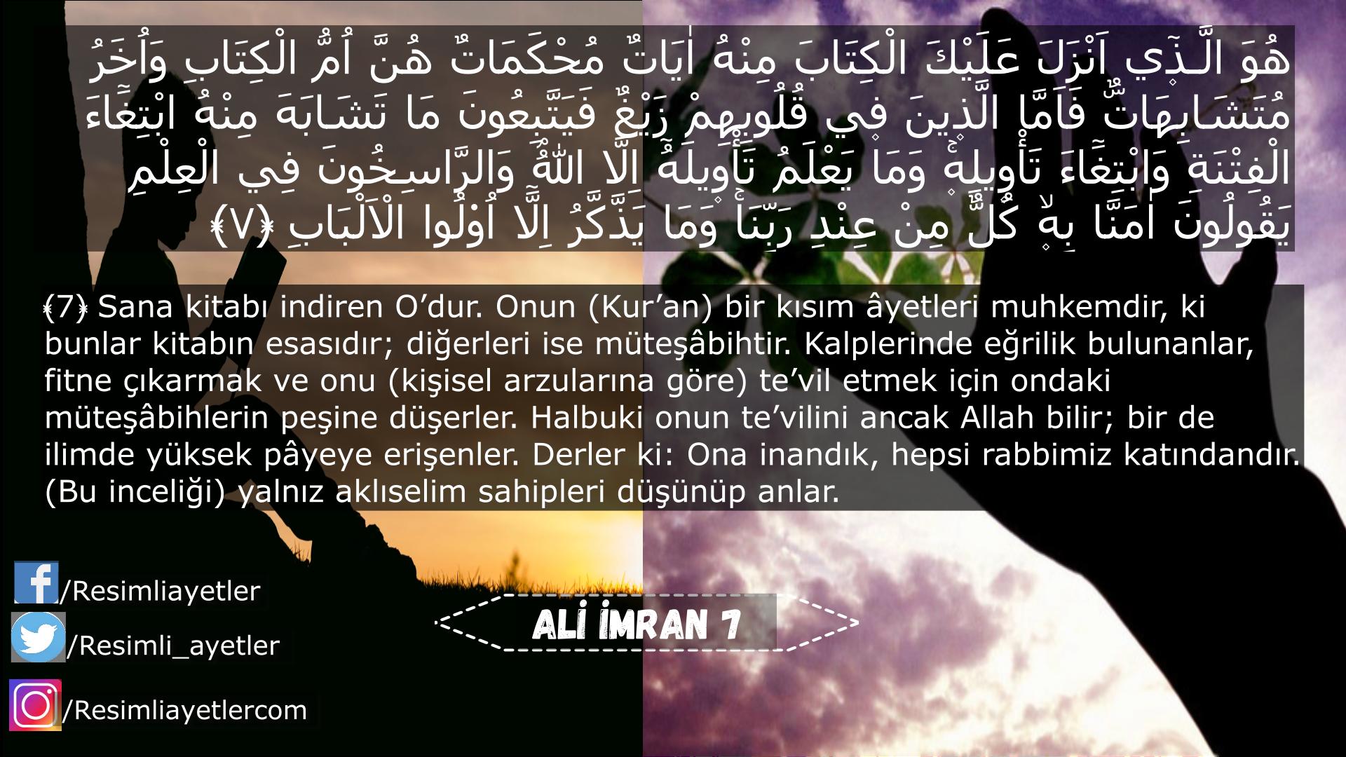 Ali İmran 7.ayeti