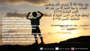 Âl-i İmrân Suresi 126-127. ayet
