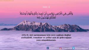 Nahl Suresi 15. ayet