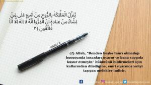 Nahl Suresi 2. ayet