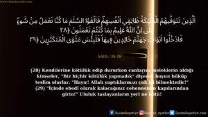 Nahl Suresi 28-29. ayet