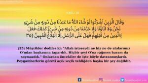 Nahl Suresi 35. ayet