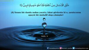 Nahl Suresi 4. ayet