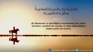 Nahl Suresi 8. ayet