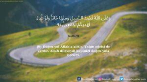 Nahl Suresi 9. ayet