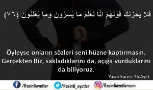 Yâsin Suresi  76 .Ayet