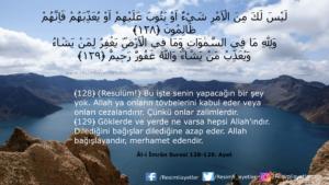 Âl-i İmrân Suresi 128-129. ayet