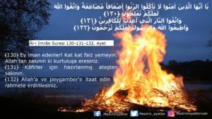 Âl-i İmrân Suresi 130-131-132. ayet