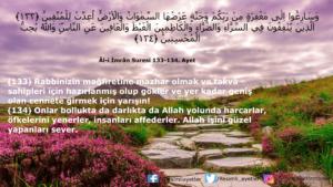 Âl-i İmrân Suresi 133-134. ayet