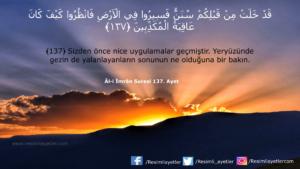 Âl-i İmrân Suresi 137. ayet