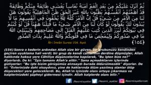 Âl-i İmrân Suresi 154. ayet