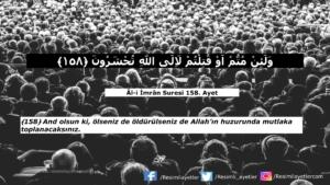 Âl-i İmrân Suresi 158. ayet