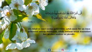 Nahl Suresi 1. ayet
