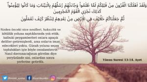 Yunus Suresi 13-14. ayet