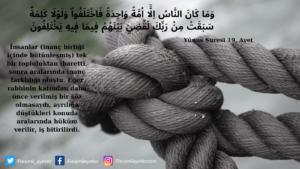 Yunus Suresi 19. ayet