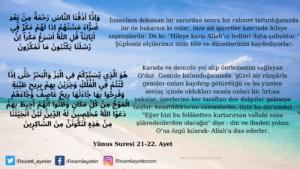 Yunus Suresi 21-22. ayet
