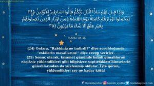 Nahl Suresi 24-25. ayet
