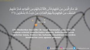 Nahl Suresi 26. ayet