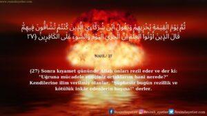 Nahl Suresi 27. ayet