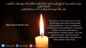 Yunus Suresi 28-29. ayet