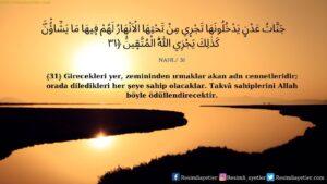 Nahl Suresi 31. ayet
