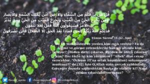 Yunus Suresi 31-32. ayet