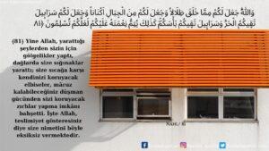 Nahl Suresi 81. Ayet
