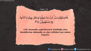 Nahl Suresi 34. ayet