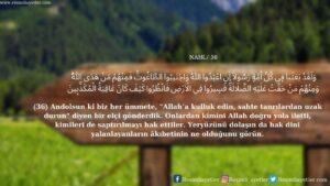 Nahl Suresi 36. ayet