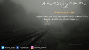 Yunus Suresi 44. ayet
