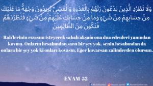 Enam Suresi 52. ayet