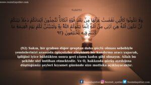 Nahl Suresi 92. Ayet
