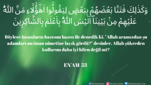 Enam Suresi 53. ayet