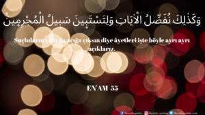 Enam Suresi 55. ayet