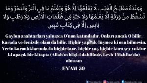 Enam Suresi 59. ayet