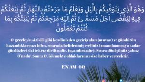 Enam Suresi 60. ayet