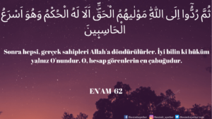Enam Suresi 62. ayet