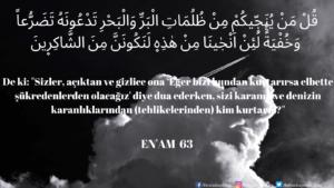 Enam Suresi 63. ayet
