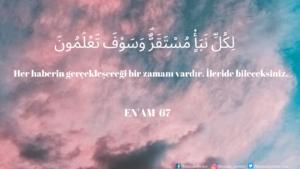 Enam Suresi 67. ayet
