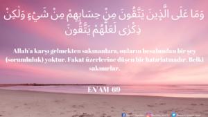 Enam Suresi 69. ayet