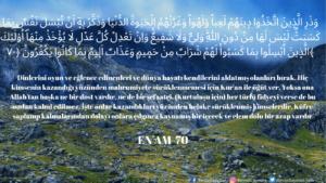 Enam Suresi 70. ayet