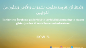 Enam Suresi 75. ayet