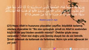 İbrahim Suresi 21. Ayet
