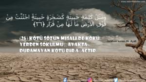 İbrahim Suresi 26. Ayet