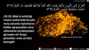İbrahim Suresi 28-29. Ayet