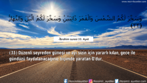 İbrahim Suresi 33. Ayet