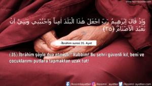 İbrahim Suresi 35. Ayet