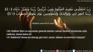 İbrahim Suresi 40-41. Ayet